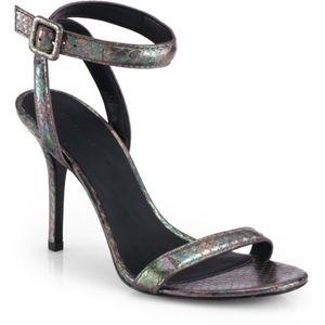 Alexander Wang Antonia Iridescent Snake Sandals